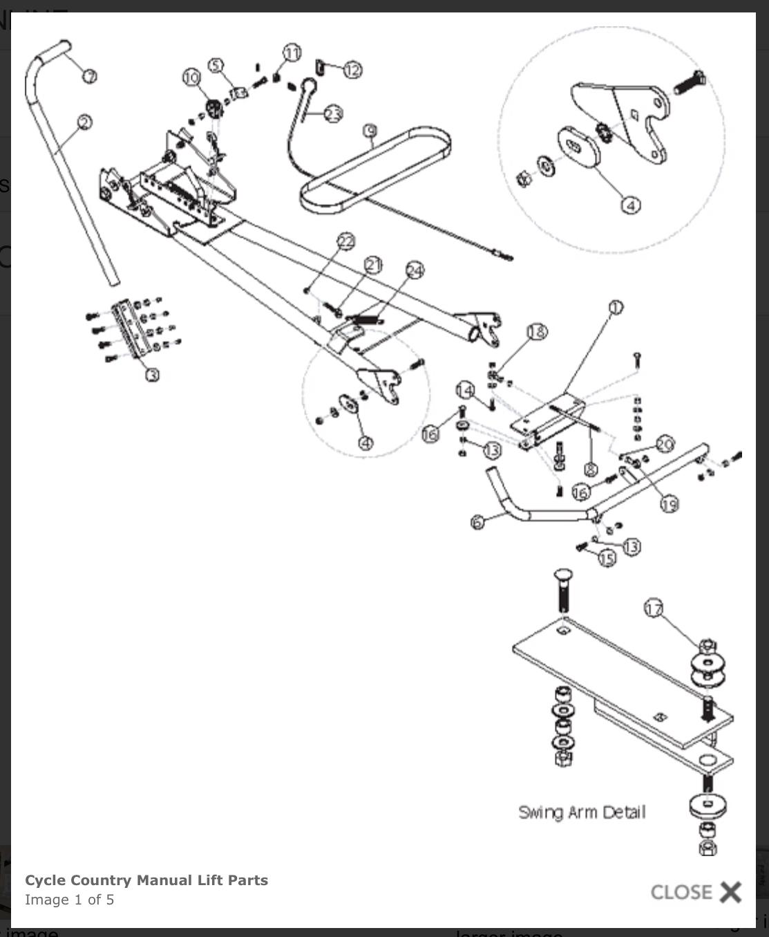 Diagram parts atv warn plow Warn 81630