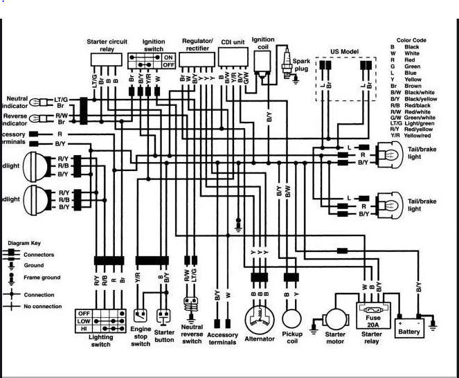1998 bayou 220 wiring schematics | kawasaki atv forum  kawasaki atv forum